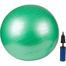 Trademark Innovations Exercise Ball with Pump-Green 65cm-by