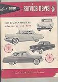 1953 Lincoln Mercury Advanced Service Data Brochure