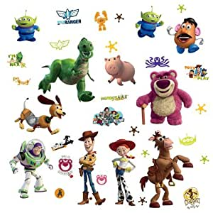 RoomMates RMK1428SCS Toy Story autoadhesivo para pared de Glo-oscuro, Garden, césped, Mantenimiento