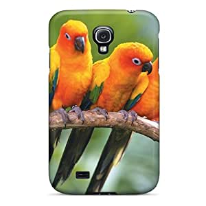 BrownCases Premium Protective Hard Case For Galaxy S4- Nice Design - Sun Conure Parrots