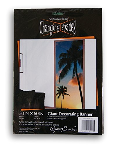 Changing Spaces Beach Themed Palm Trees Decorative Door or Wall Banner - 30 x 60