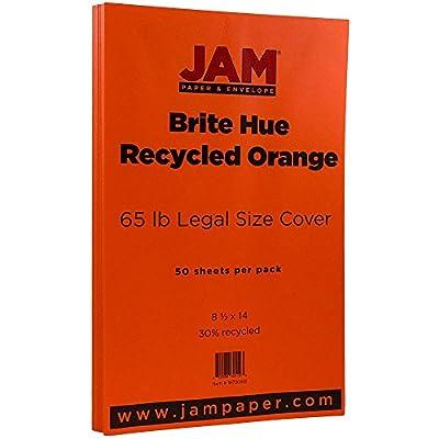 JAM Paper® 8 1/2 x 14 Legal Size Paper - PRIME Brite Hue cardstock - 50 Sheets per Pack