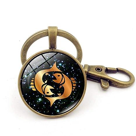 Cranky Orange cabuchón Signos del Zodiaco llaveros Aries Leo ...
