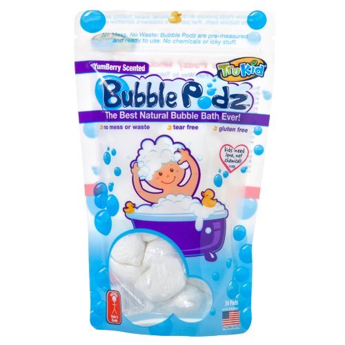 TruKid Bubble Podz, Natural Bubble Bath for sensitive skin, Yumberry Scent, 24 count