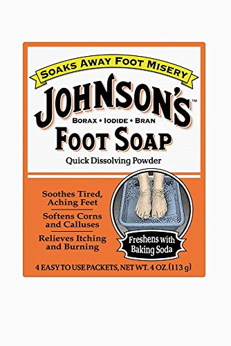 (Johnson's Foot Soap Quick Dissolving Powder, 16 Packets (Pack of 4))