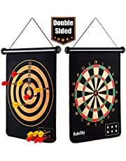 Rollup Magnetic Dart Board for Kids and Adults with 6pcs Safe Darts, Best Toys Gift for Age 6 7 8 9 10 11 12 Year Old Boys