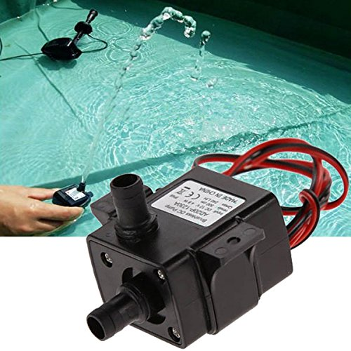LEEPRA 12V 3.6W Mini DC Brushless Garden Fountain Pump Hydrological Cycle Submersible Water Pump