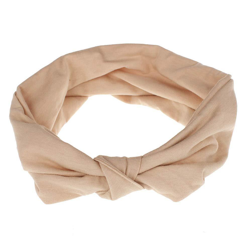 HighlifeS Women Elastic Turban Head Wrap Headband Twisted Hair Band (E)