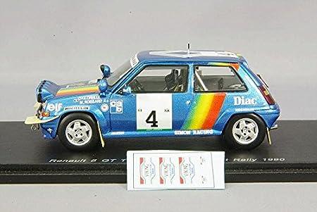 Spark - S3860 - Renault R5 GT Turbo - Rally de Cote de Marfil 1990 - Escala 1/43 - Azul Metal: Amazon.es: Juguetes y juegos