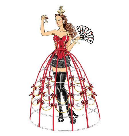 [MCCALLS M7306 MISSES CORSET, HOOP WIRE SKIRT, COSTUME (SIZE 6-14) ~ SEWING PATTERN] (Corsets For Halloween Costumes)