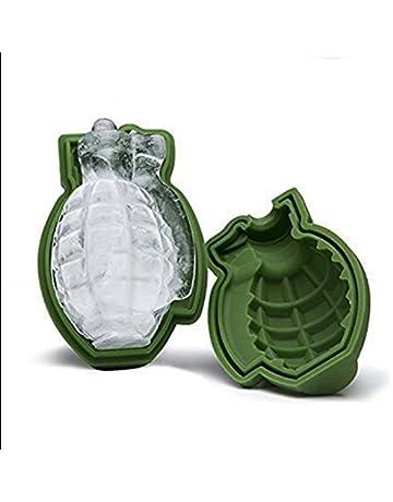 MTSZZF Forma del Granada 3D del Molde del Cubo de Hielo, Molde de la Torta