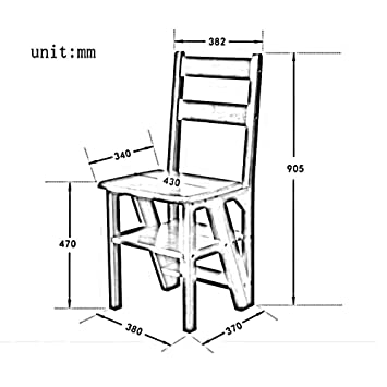 YZYDZ Sillas Muebles Modernos Escalera Plegable Estante ...