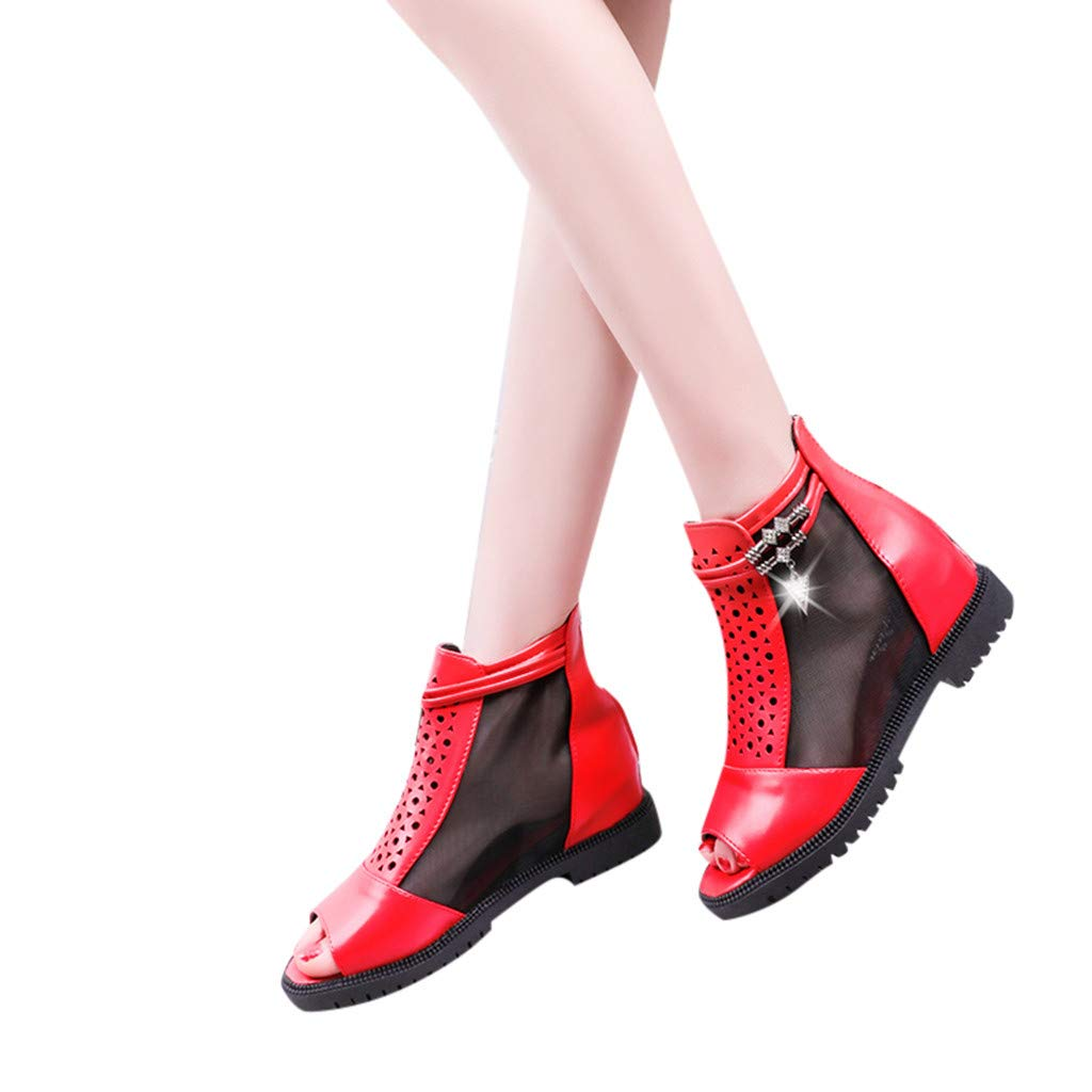 Women Outdoor Fish Mouth Flat Mesh Sports Shoes Breathable platform Sandals by LUXISDE (Image #1)