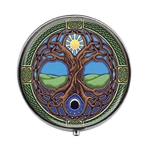 Tree of Life - Celtic Tree of Life Pill Box - Tree of Life Pill Box - Glass Candy - Celtic Candy