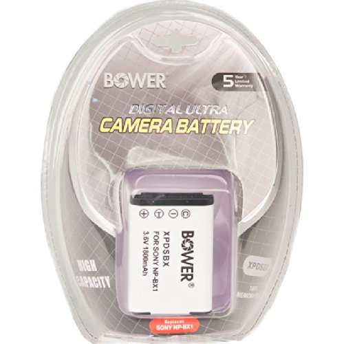 (Bower NP-BX1 1600MAH Extra Battery Pack for Select Sony Cameras and Camcorders)