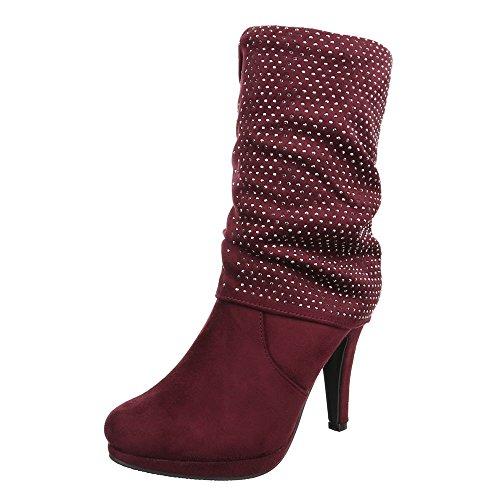 Ital-Design - botas clásicas Mujer Rojo