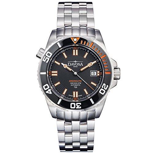 Davosa Swiss Argonautic Lumis 16150960 Black Men Wrist Watch Steel & Black