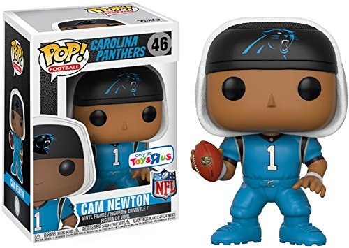 EXCLUSIVE Funko POP! Football: Carolina Panthers 3.75 inch Vinyl Figure - CAM NEWTON (Blue Jersey)