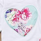 Newborn Baby Girls Floral Heart Peach Print Romper