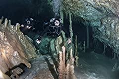 Technical divers in Dreamgate cave system in Mexico. is a licensed reproduction that was printed on Premium Heavy Stock Paper which captures all of the vivid colors and details of the original. The overall paper size is 34.20 x 22.80 inches. ...