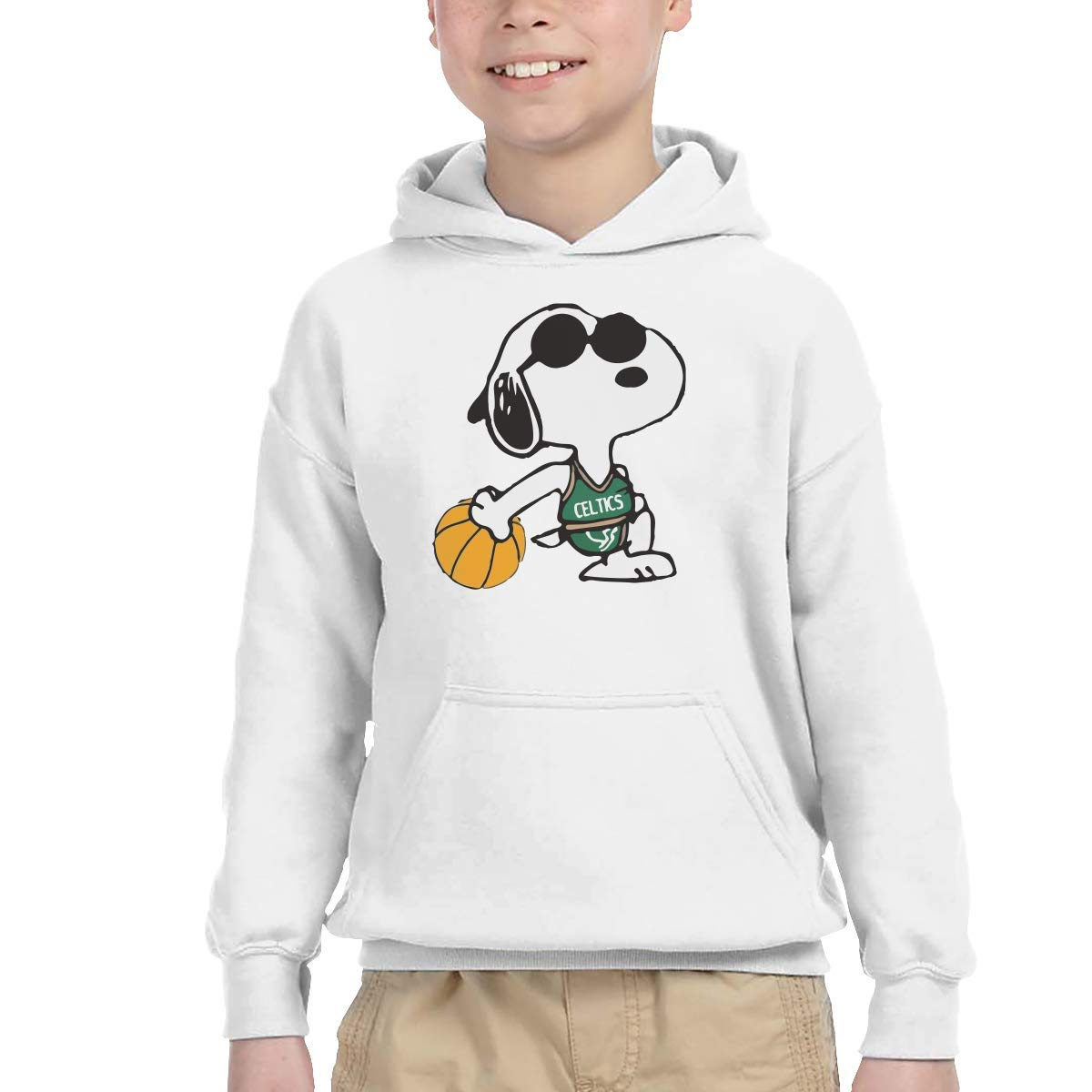 Snoopy Boston Celtics Basketball Child Long Sleeve Hoodie ...
