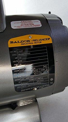 Baldor 7.5 Hp Electric Motor 3450 RPM 213 T Frame 1 Ph Single Phase 208/230 Volt