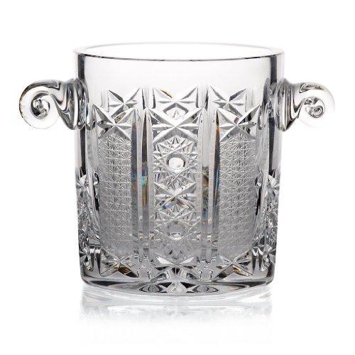 Cubitera, cubitera cristal 'SERAFINA', hecho a mano, transparente, 13 cm, cristal de plomo, estilo moderno (GERMAN CRYSTAL powered by CRISTALICA)