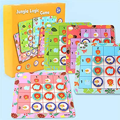 JAGETRADE Jungle Animal Logic Juego de Mesa Juguetes para niños Montessori Interactivo Creative Family Party Regalo: Amazon.es: Hogar