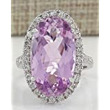 Sumanee Women Fashion 925 Sterling Silver Pink Kunzite Ring Engagement Jewelry Size 6-10 (7)