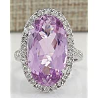 Sumanee Women Fashion 925 Sterling Silver Pink Kunzite Ring Engagement Jewelry Size 6-10 (10)