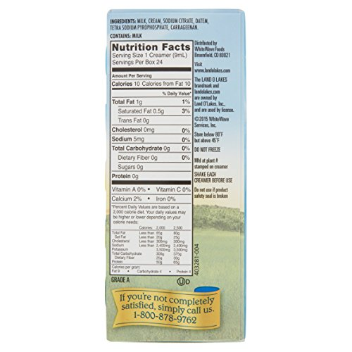 Land O Lakes Mini Moo's Real Cream Half & Half, 9 mL Cups, 24 Count (Pack of 12) by Land O Lakes (Image #4)