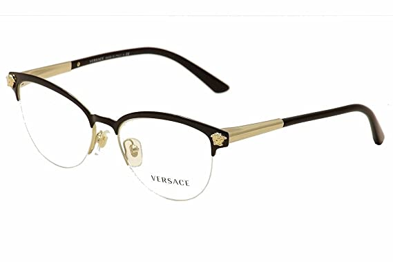 versace ve1235 eyeglass frames 1371 53 blackpale gold