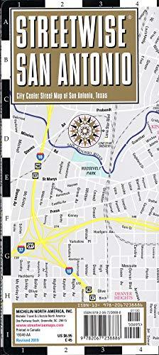 Streetwise San Antonio Map: Laminated City Center Map of San Antonio, Texas (Michelin Streetwise Maps) ()