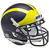Michigan Wolverines Matte Blue Replica Full Size Football Helmet