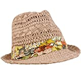 Crusher Beach Summer Light Weight Groovy Hatband Vent Fedora Sun Cap Hat Pink