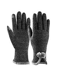 PALMOO Women Winter Warm Gloves Ladies Super Soft Warm Touch Screen Texting Gloves Fleece Lined Mittens, Winter gloves