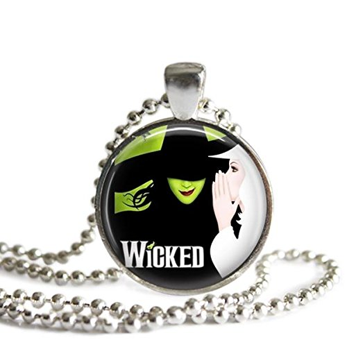 Wicked 1 Inch Silver Plated Picture Pendant Necklace