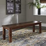 Signature Design Manishore Brown Wood Dining Bench by Ashley For Sale