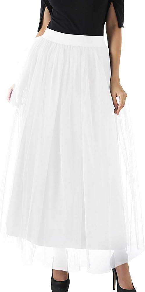 FEOYA - Falda de tul para mujer, 4 capas, para carnaval, bodas ...