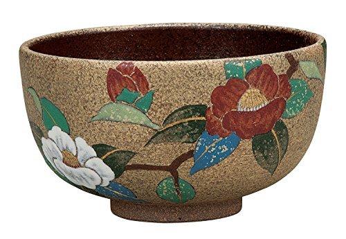 Kutani Yaki Kinsai Satellite Flower Pottery 4.8inch Matcha Bowl by Watou.asia