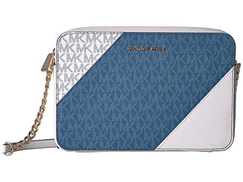 Michael Kors Large Tri-Color Logo and Leather Crossbody - Dark ()