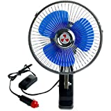 Niceskin Oscillating With Suction Car Fan, Metal and superior plastic