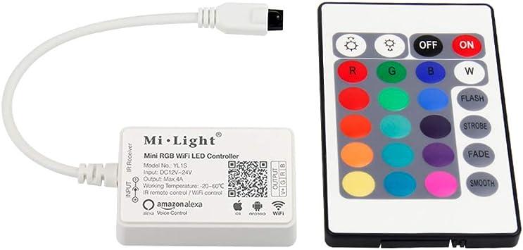 Mini WIFI RGB Led Controller Kontroller Fernbedienung für Android IOS Echo Alexa