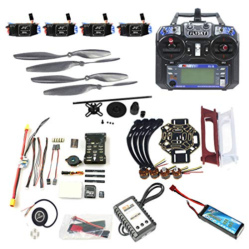 (QWinOut DIY FPV Drone Quadcopter 4-axle Aircraft Kit :450 Frame + PXI PX4 Flight Control + 920KV Motor + GPS + FS-i6 Transmitter + Battery)