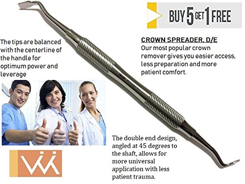 CROWN SPREADER, D/E Our most popular crown remover gives you easier access, less preparation and more patient comfort.
