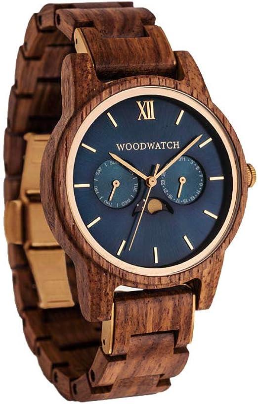 Orologio da uomo cassa in legno woodwatch realizzato a mano   movimento al quarzo giapponese WW-CL-SR