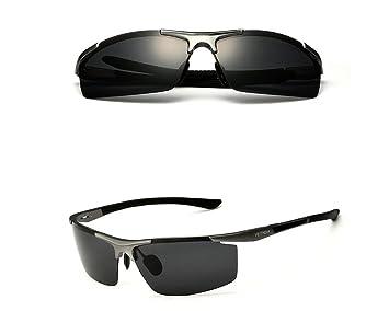 Aluminio Magnesio gafas de sol polarizadas deportes hombres revestimiento Gafas de conducción macho