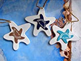 Mediterranean Series Decorative Wall Stairs And Door Pendant Gift Crafts 3pcs/set (starfish)