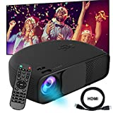 Video Projector DIWUER 1080P HD Portable Movie Projector 3500 Lumens Projectors Support AV VGA USB HDMI Laptop PC TV Smartphone for Office Home Cinema Entertainment Games Party