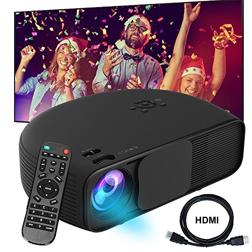 Video Projector DIWUER 1080P HD Portable Movie Projector 3500 Lumens Projectors Support AV VGA USB HDMI Laptop PC TV Smartphone for Office Home Cinema Entertainment Games Party from DIWUER